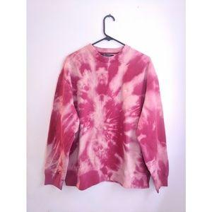 Vintage 90s Tommy Hilfiger Pink Tie Dye Sweatshirt